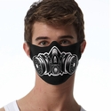 Gas Mask Design 1-Ply Jersey Face Mask in 10 Color Options