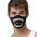 Vampire Teeth Design 2-Ply Face Masks in Choice of 2 Colors
