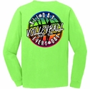 Volleyball All Day Every Day Design Neon Green Long Sleeve Shirt