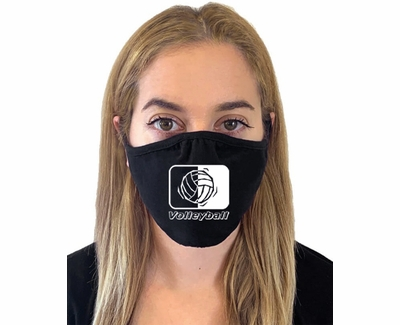 Volleyball In Motion Design 2-Ply Face Masks in Choice of 2 Colors