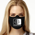 Volleyball In Motion Design 1-Ply Jersey Face Mask in 10 Color Options