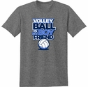 Volleyball Is My Boyfriend Design Heather Grey T-Shirt