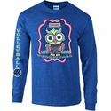 Volleyball Owl Design Heather Blue Long Sleeve Shirt