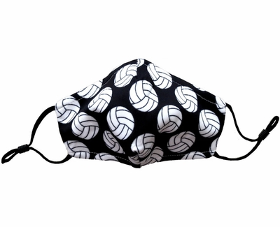 Volleyball Printed 3-Ply Adjustable Face Mask With Carbon Filter