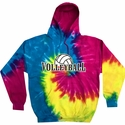 Volleyball Rising Design Tie Dye Hooded Sweatshirt - in 6 Hoodie Colors