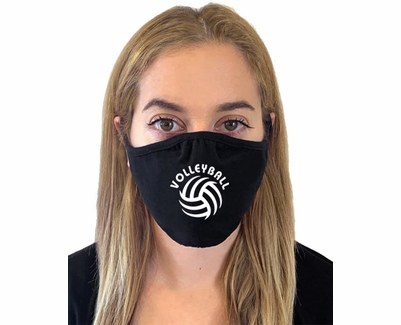 Volleyball & Spiral Ball Design 2-Ply & 3-Ply Face Masks in 6 Colors