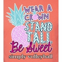 Volleyball T-Shirt - Wear A Crown Stand Tall Bright Coral Short Sleeve