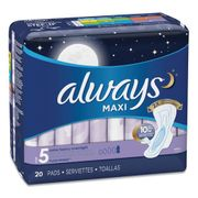 Always Maxi Pads, Extra Heavy Overnight, 20/Pack