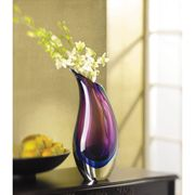 Art Glass Vase Duo Tone  15.75 in. h.