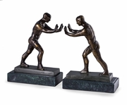 Atlas Bronzed Bookends