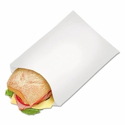 Bagcraft  PB25 Grease Resistant Sandwich, Hot Dog, or Sub Bag White  2000/box
