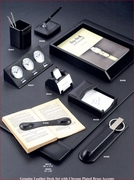 Black Leather Desk Accessories Complete Set