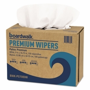 Boardwalk Hydrospun Wipers, White, 9 x 16 3/4, 10 Pack Dispensers of 100, 1000/Carton