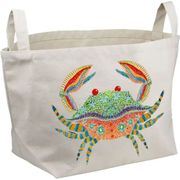 Boho Crab Canvas Basket Rectangular