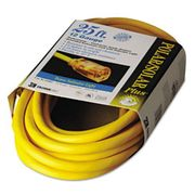 CCI Coleman Cable Polar/Solar Indoor-Outdoor Extension Cord With Lighted End, 25ft, Yellow