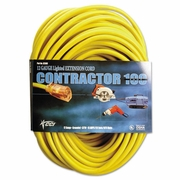 CCI Coleman Cable Vinyl Outdoor Extension Cord, 100 Ft, 15 Amp, Yellow