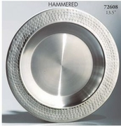 Charger Hammered Rim Stainless Steel