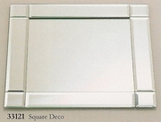 Charger Mirrored Square Deco   Style   13""