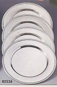 Chargers  Nickelplated with Bead Rim  (4/set)