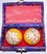 Chinese Relaxation Meditation Therapy Balls with Chimes  Lotus Blossom