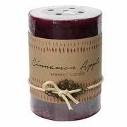Cinnamon Apple Pillar Candle  3 x 4