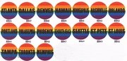 City Rainbow Pride Buttons