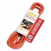 Coleman Cable Vinyl Outdoor Extension Cord, 10ft, 13 Amp, Orange