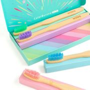 Colorburst Bamboo Toothbrushes   Pack of 4