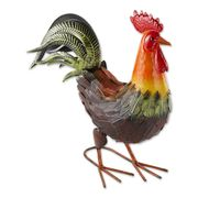 Colorful Rooster Figurine Decoration