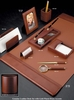 Complete Desk Accessory Set Tan Leather II