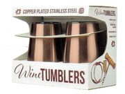 Copper Plated Stainless Steel Wine Tumblers 12 oz. 2pc.