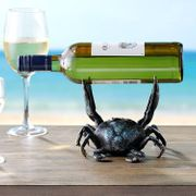 Crab Wine Bottle Holder  Cast Iron