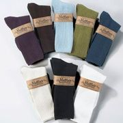 Crew Socks Organic Cotton Solid Color Single Pair Mid-Calf