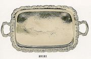 "Elegance Ashley Silverplated  Tray Footed with Handles 23"" x 14"""