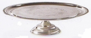 "Elegance  Cake Stand Silver Plated 12-1/2""dia"