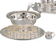 Elegance  Hotel Collection Silverplated Punch Bowl Set 13pc.