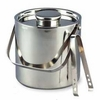 Elegance  Ice Bucket Double Wall Stainless Steel Large with Tongs 3QT