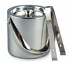 Elegance  Ice Bucket Double Wall Stainless Steel  with Tongs 1.5QT