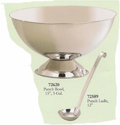 Elegance  Punch Bowl Rimless Stainless Steel  3 Gallon