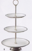 Elegance Serving Stand 3-Tier Enameled and Stainless Steel