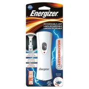 Energizer Weather Ready LED Flashlight, 1 NiMH Rechargeable Battery (Included), Silver/Gray