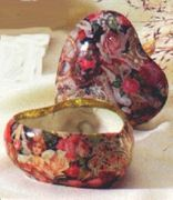 English Rose Patchwork Design Trinket Box