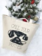 Farmer's Market Canvas Tote Bag Call Your Mother  18 x 15 x 6