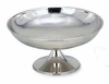 "Elegance Footed Bowl Hammered   Stainless Steel  12""dia"