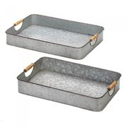 Galvanized Serving Trays  2pc.