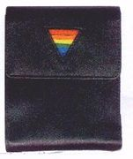 Gay Pride Leather Envelope Wallet