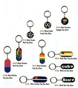 Gay Pride Metal Keychains