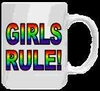 Girls Rule Rainbow Mug