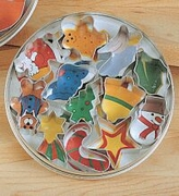 Mrs Anderson's Holiday Theme Cookie Cutters, Set of 12