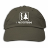 I Pee Outside   Olive Adjustable Embroidered Hat